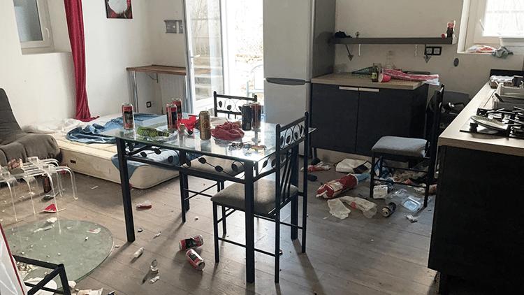 photo d'un appartement sale et abimé à remettre en état à biarritz